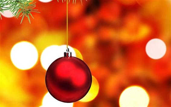 壁紙 赤いクリスマスボール