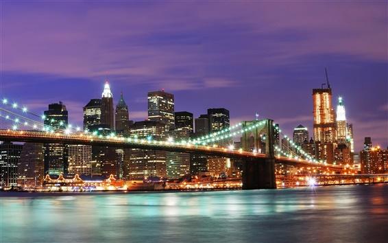 Fondos de pantalla Estados Unidos Nueva York la noche