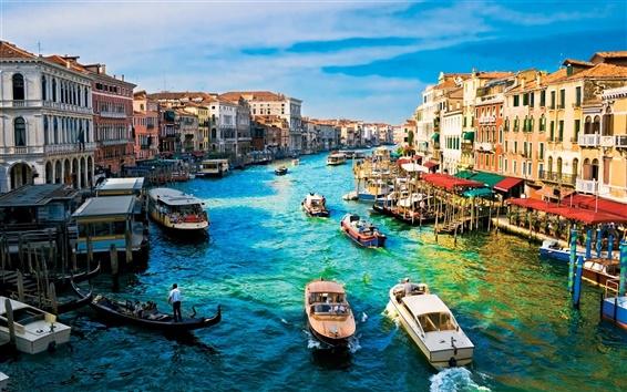 Wallpaper Venice boat house