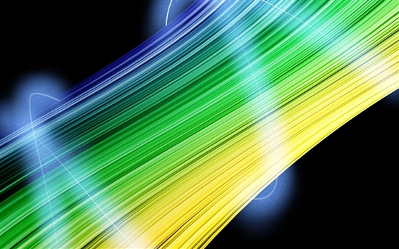 Wallpaper Abstract green and yellow lines