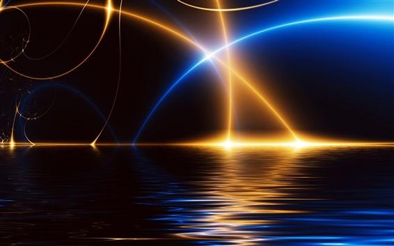 壁紙 光の線の抽象画