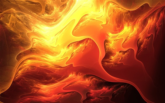 Wallpaper Abstraction fiery colors of lava