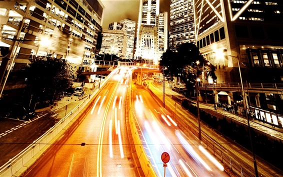 배경 화면 Ambilight 도시 도로