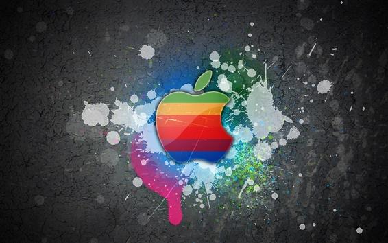 Fond d'écran Pomme mur de graffiti
