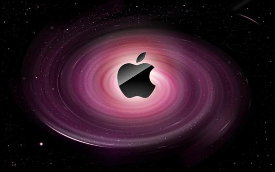 Обои Apple, фиолетовый водоворот
