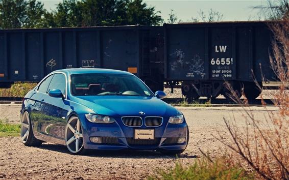 Wallpaper BMW blue car