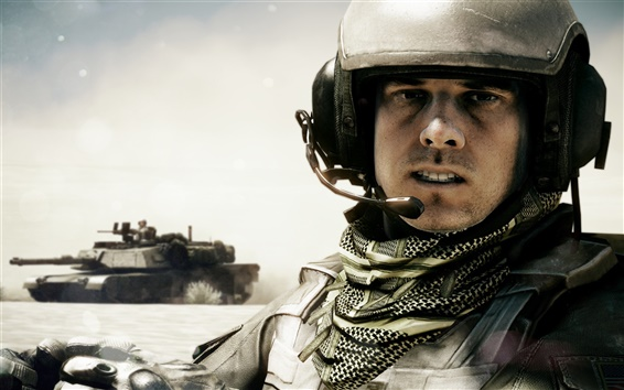 Wallpaper Battlefield 3 tank and soldier