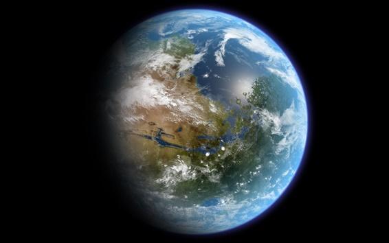 배경 화면 클로즈업 아름다운 푸른 지구