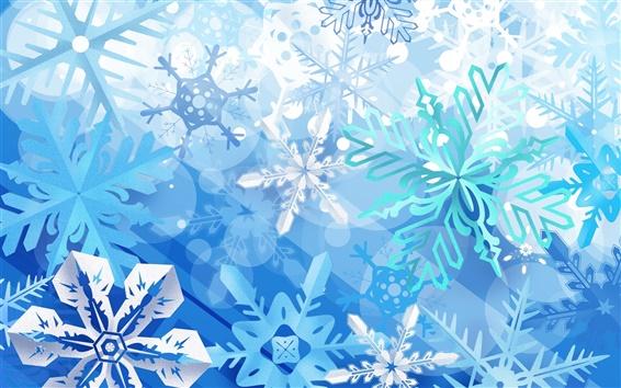 Fond d'écran Flocon de neige bleu de Noël