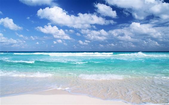 Wallpaper Blue beach views