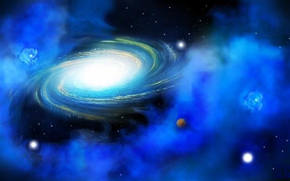 Wallpaper Blue nebula of the universe