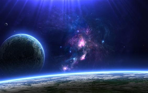 Wallpaper Blue planet on the horizon