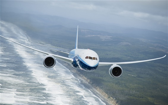 Papéis de Parede Boeing 787 Dreamliner voar