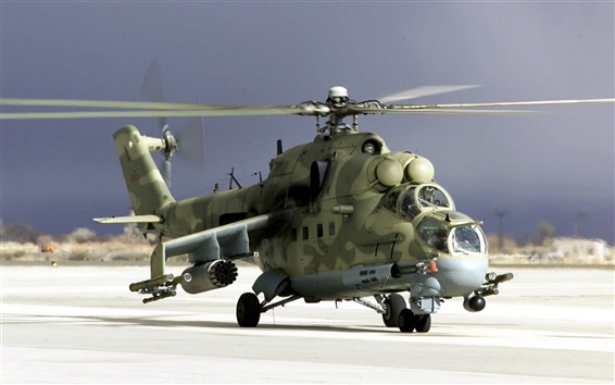 Wallpaper Camouflage military helicopter