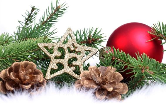 Wallpaper Christmas tree decorations