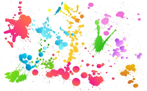 Wallpaper Colorful abstract graffiti paint