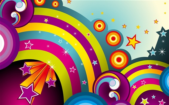 Wallpaper Colorful circle vector