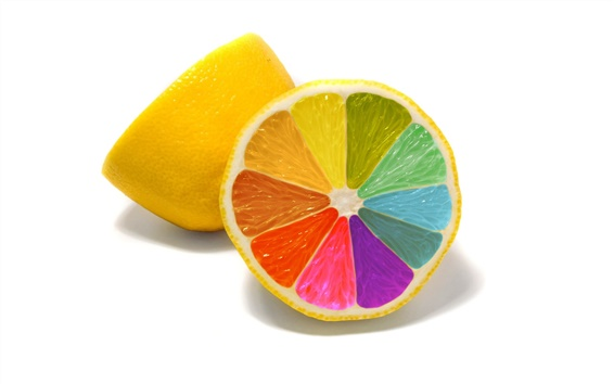 Wallpaper Colorful lemons close-up
