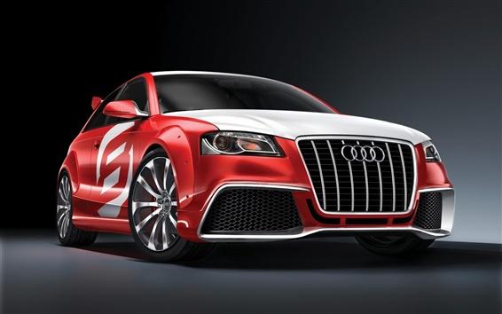 Wallpaper Cool red Audi car