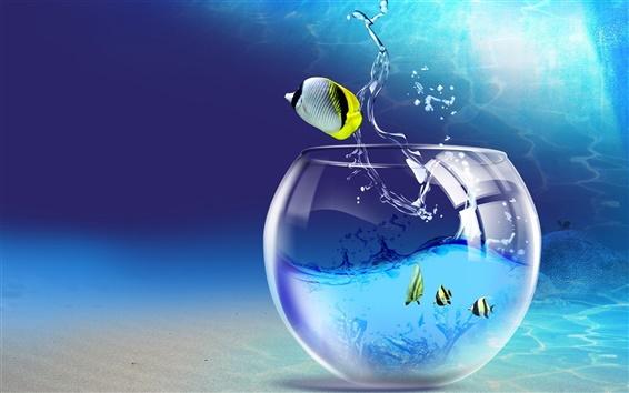 Обои Творческое воображение тропических рыб