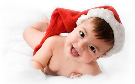 Wallpaper Cute Christmas baby