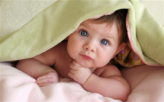 Wallpaper Cute baby In thinking