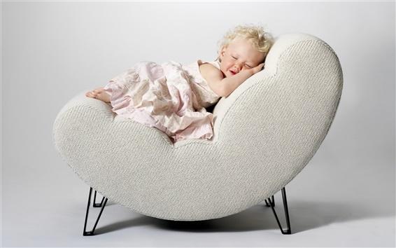Fond d'écran Jolie petite princesse endormie