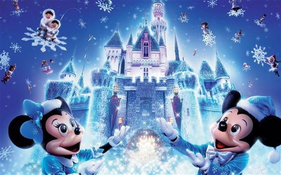 Wallpaper Disney Christmas Mickey Mouse
