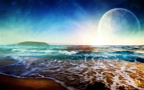 Wallpaper Dream Sunrise at sea