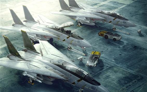 Papéis de Parede F-14 Tomcat pista