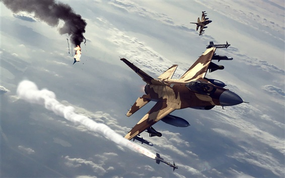Wallpaper Fighter air battle