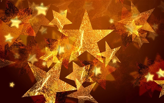 Wallpaper Five-pointed star Christmas ornaments