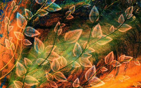 Wallpaper Foliage design abstraction