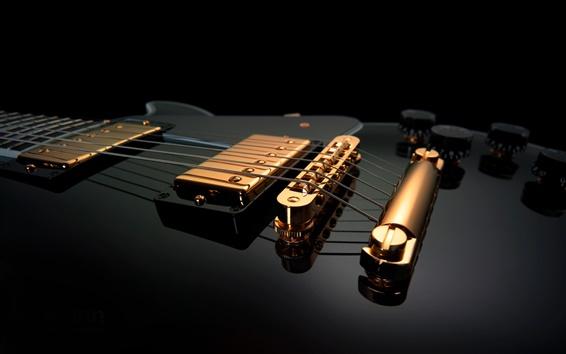 Wallpaper Guitar macro close-up