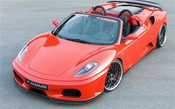 Обои Hamann красный спортивный автомобиль