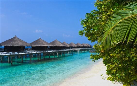Fondos de pantalla Casas de vacaciones en la playa