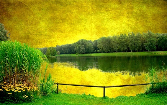 Fondos de pantalla pintura de paisaje