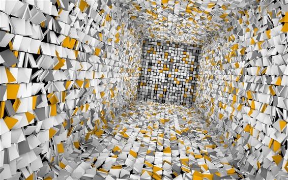Обои Затерянные в абстрактных 3D комнате