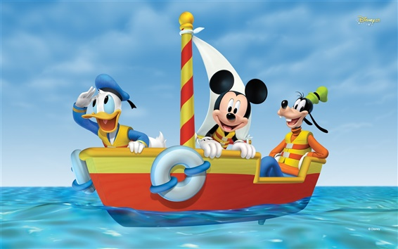 Wallpaper Mickey adventure at sea