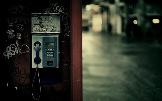 Wallpaper Payphone street lights