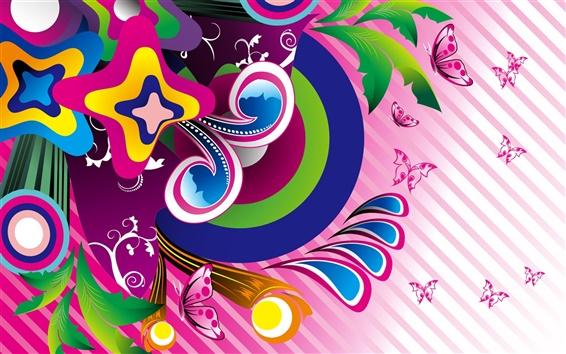 Wallpaper Purple butterfly vector