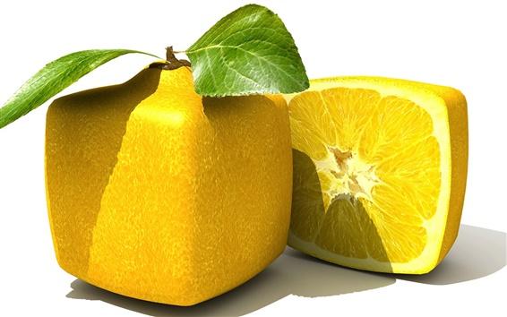 배경 화면 사각형 레몬