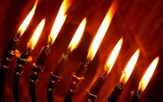 배경 화면 레드 촛불