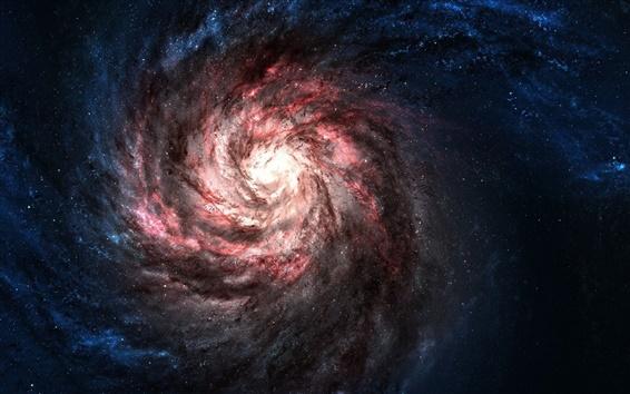 Wallpaper Red galaxy universe
