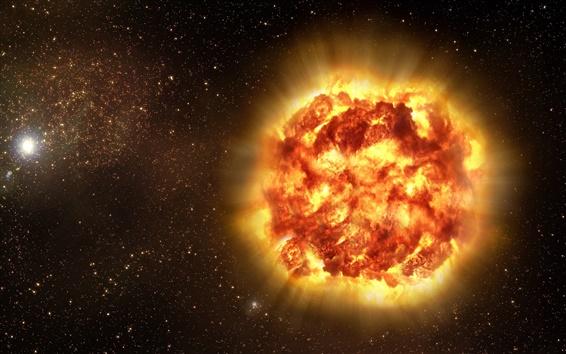 Обои Красный острый сверхновой