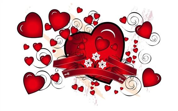 Обои Романтический красное сердце