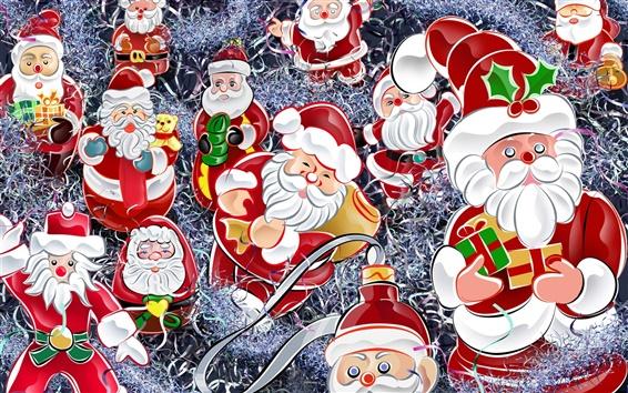 Wallpaper Santa Claus and gifts