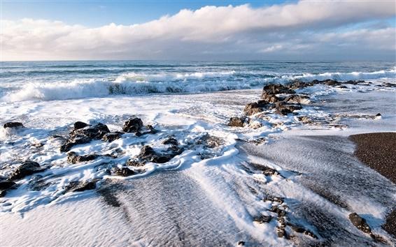 Обои Волны берег моря