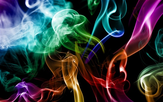 Wallpaper Smoke colored abstraction creative