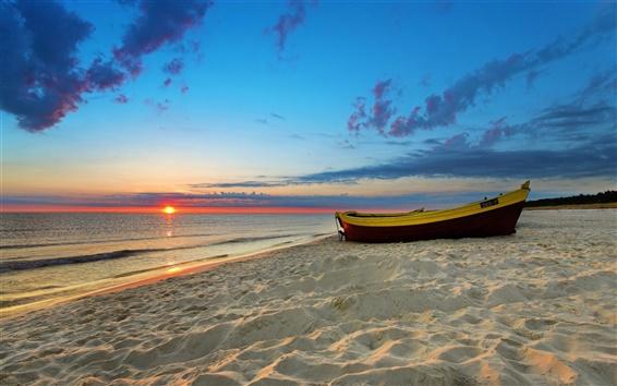 Wallpaper Sunset beach